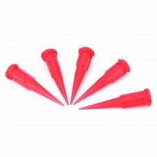 Műanyag Adagolótű - 25G - Piros (10db/csomag)