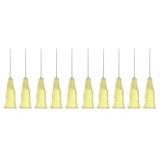Műanyag rögzítésű, Fém Adagolótű - 32G - Citromsárga (10db/csomag)