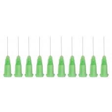 Műanyag rögzítésű, Fém Adagolótű - 34G - Világos zöld (10db/csomag)
