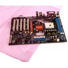 ESD Disszipatív Rózsaszín Nyitott Tasak - 76x127mm - 50mikron (100db/cs)