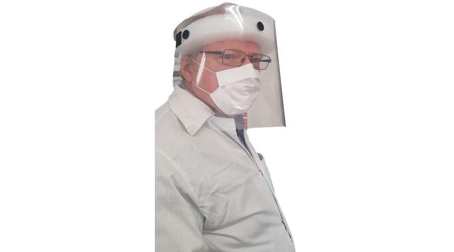 Műanyag arcvédő pajzs - Gumis szivacsos fejpánttal
