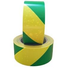 Padlójelölő szalag, zöld-sárga - 50mm x 66m x 0,08mm