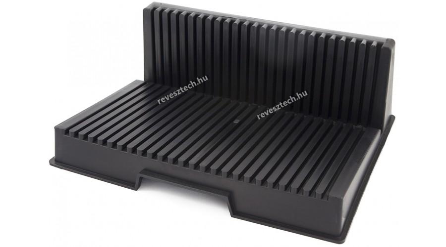 ESD PCB Rack, PCB tartó, L alakú, Fekete, 265x205x95mm
