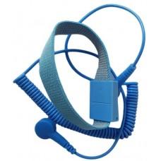 ESD Kék Antiallergén Csuklópánt - 10mm-10mm-es Patenttel