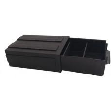 ESD Fiókos tároló, fekete, sorolható - 140x92x45mm
