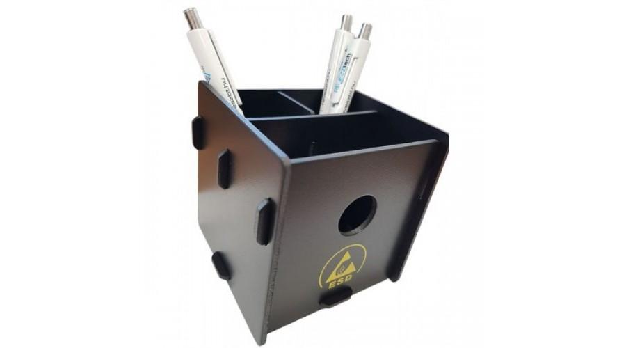 ESD Fekete Asztali Tolltartó - 3 rekeszes