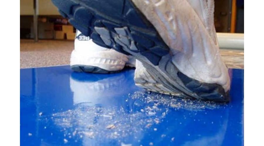 """Kék Öntapadós Lábtörlő, Sticky mat, 30 rétegű, 24""""x36"""" (~ 600x900mm)"""