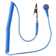 Kék Csuklópántvezeték - 1.8m (10mm - Banándugó / Krokodilcsipesz)