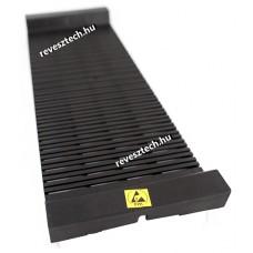 ESD PCB Rack, PCB tartó, U alakú, Lapos, Fekete, 484x175x50mm