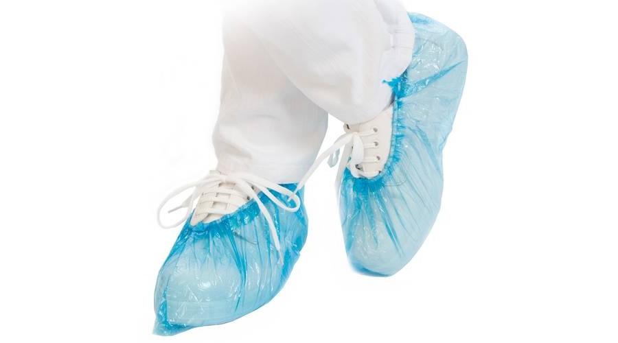 Kék eldobható cipővédő - C-S és C-C adagolóhoz - 20 mikron (110db/csomag)