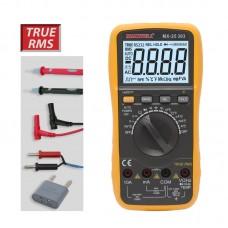 Maxwell Általános Digitális Multiméter, hőmérséklet- és frekvenciamérő (TRUE RMS) - 25303